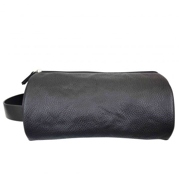Mister deluxe black round wash bag