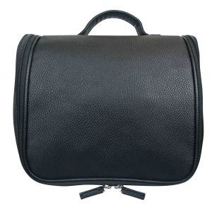 Mister deluxe black wash bag with hook