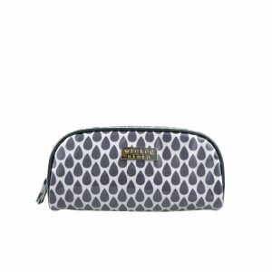 Tear drop small round top cosmetic bag