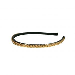 Plaited headband gold