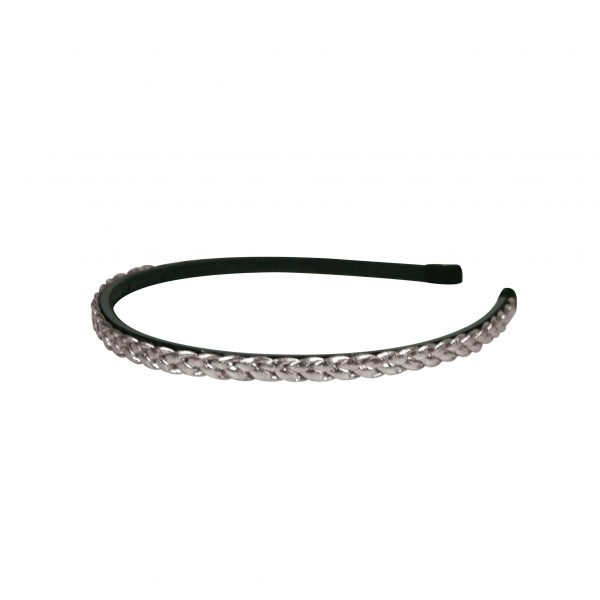 Plaited headband silver
