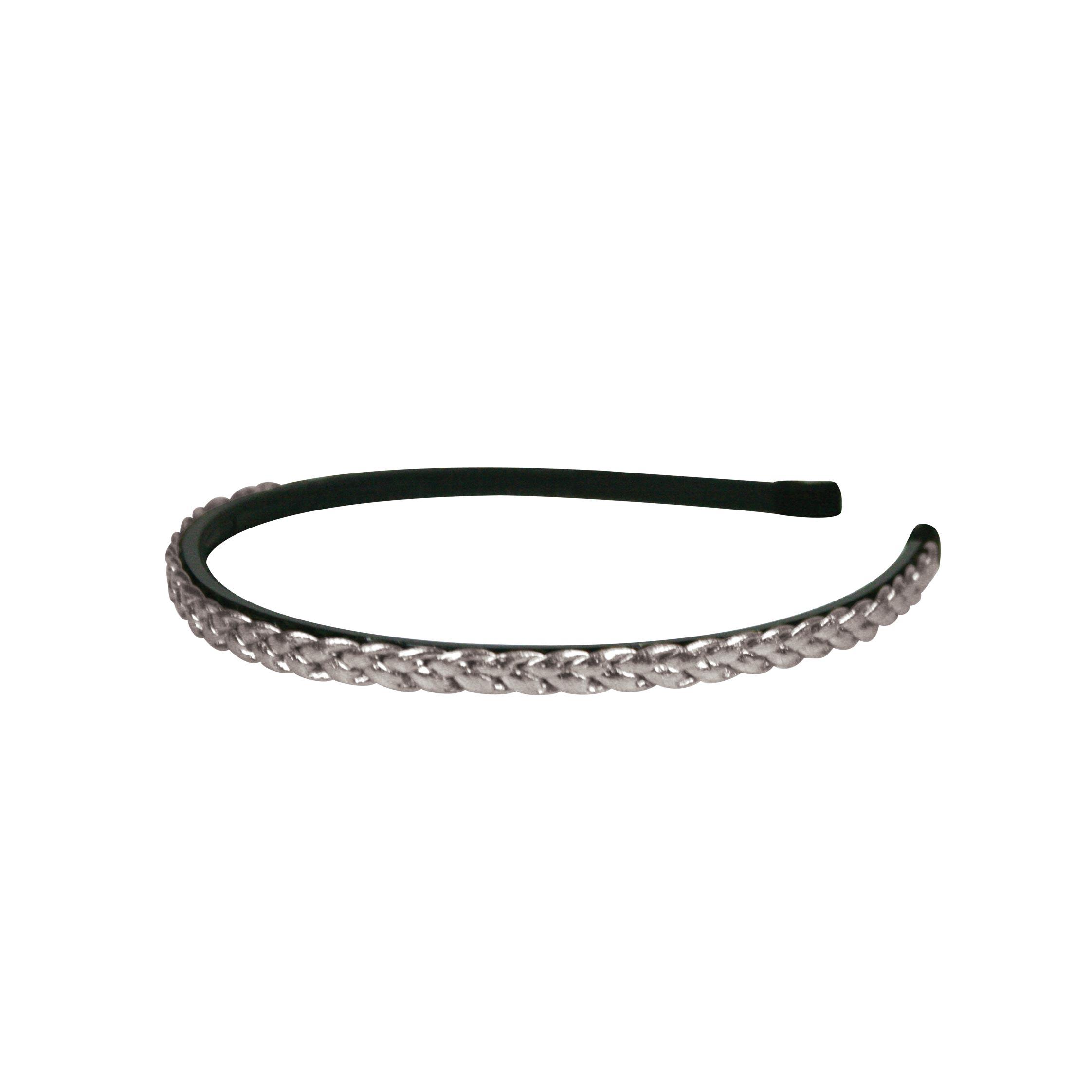 Plaited headband silver
