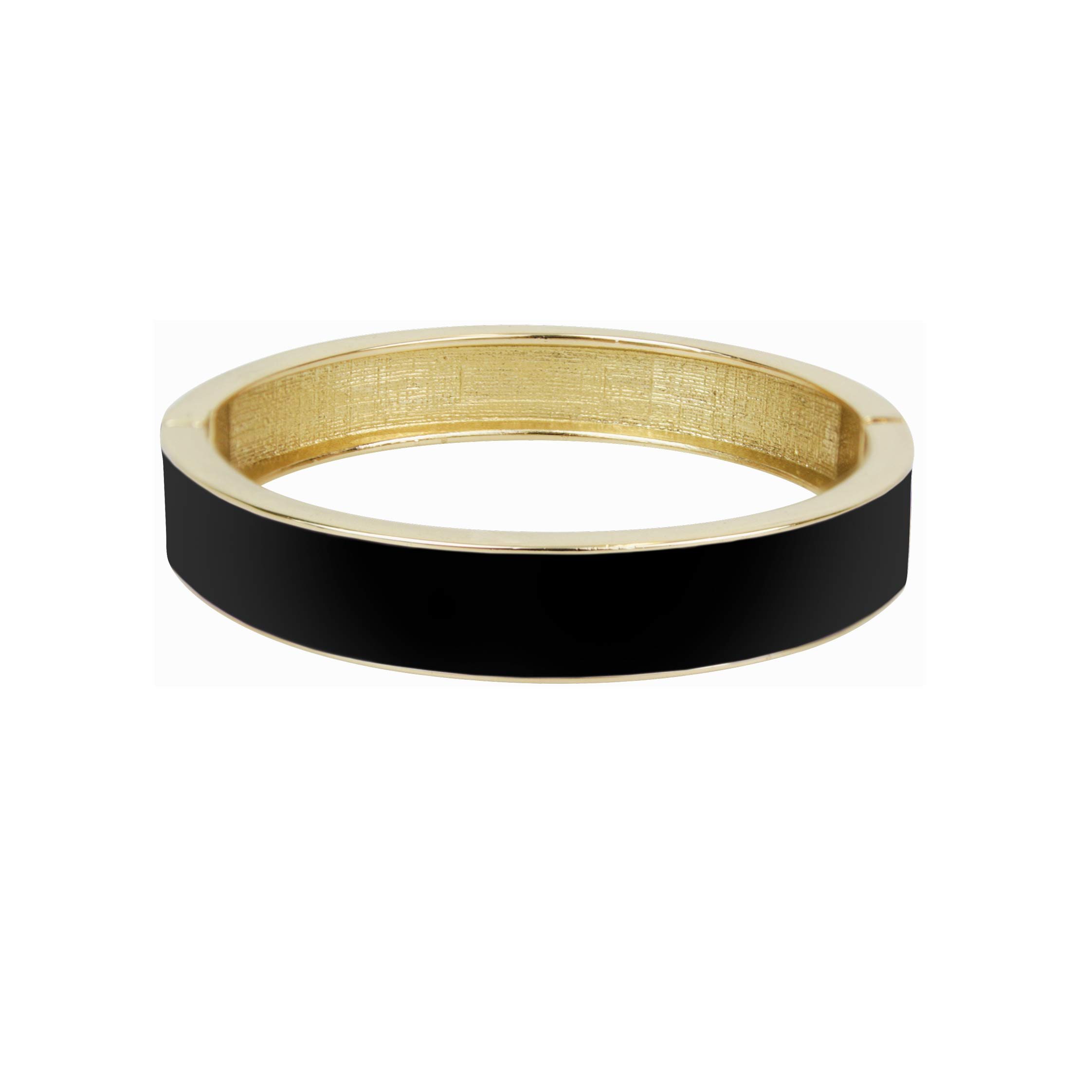 Enamel cuff black/gold