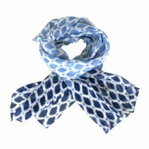 Blue Saskia silk scarf