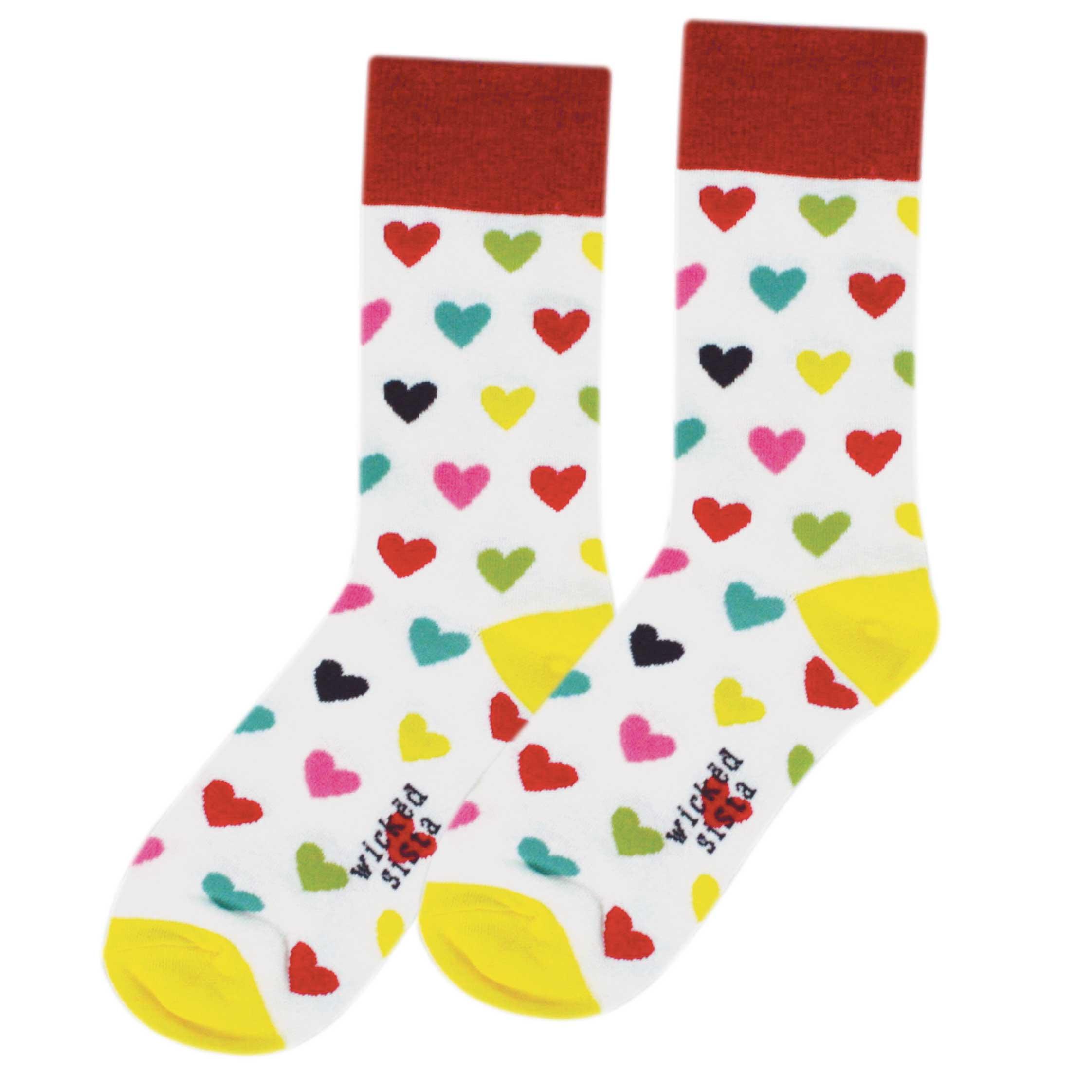 Hearts fun socks