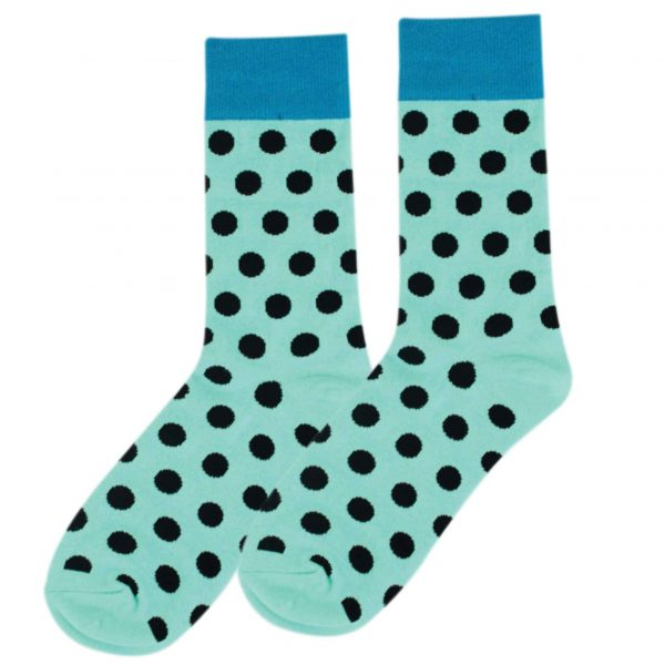 Polka blue fun socks