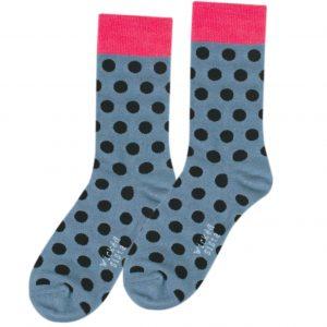 Polka pink fun socks