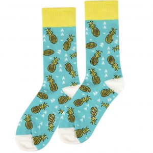 Pineapple fun socks