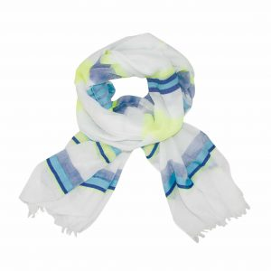 Best in stripe blue citrus scarf