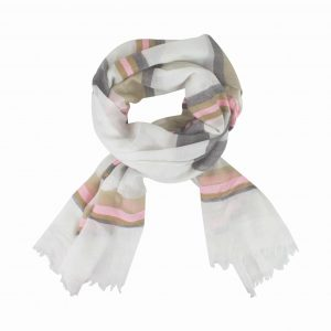 Best in stripe natural pink scarf