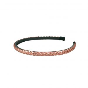 Plaited headband rose gold