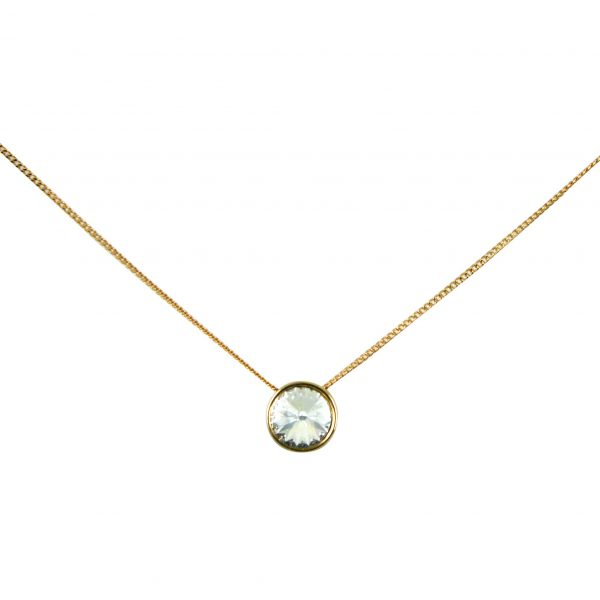 Diamante circle pendant