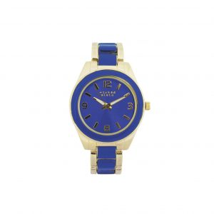 Blue & gold watch