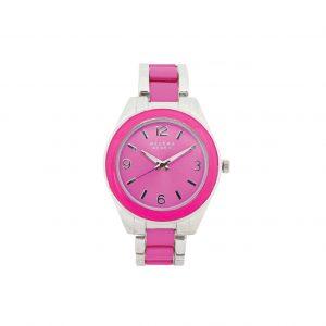 Pink & silver watch