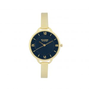 Delicate gold & navy watch