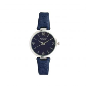 Navy & silver watch