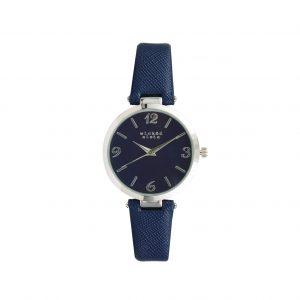 Navy & silver watch