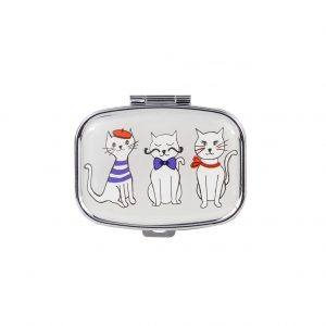 Mini Pill Case French Cat